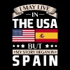 May Live in USA Story Began in Spain Flag T-Shirt - Men's Premium T-Shirt