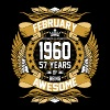 February 1960 57 Years Of Being Awesome - Men's Premium T-Shirt