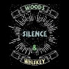 Woods Silence & Whiskey Camping T Shirt - Men's Premium T-Shirt