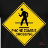 Phone Zombie Crossing - Men's Premium T-Shirt