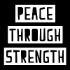 Peace Through Strength - Men's Premium T-Shirt