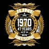 June 1970 47 Years Of Being Awesome - Men's Premium T-Shirt