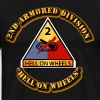Army - 2nd Armored Division - Hello on Wheels - Men's Premium T-Shirt