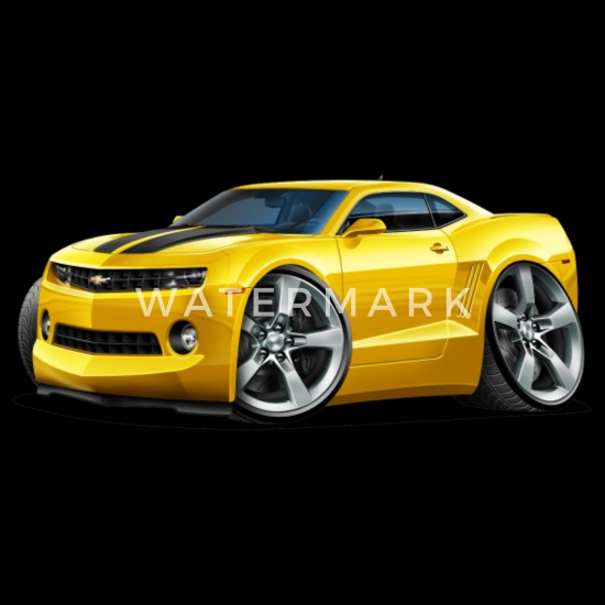 9a33b49765 2010-12 Chevy Camaro Yellow-Black Car Men's Premium T-Shirt ...