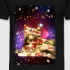Pizza Cat in Space Shirt - Men's Premium T-Shirt