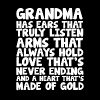 Ears that Truly Listen Heart made of Gold Grandma  - Men's Premium T-Shirt