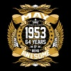 May 1953 64 Years Of Being Awesome - Men's Premium T-Shirt