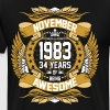 November 1983 34 Years Of Being Awesome - Men's Premium T-Shirt