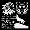 The Wolf Does Not Perform In The Circus  - Men's Premium T-Shirt