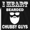 i heart bearded chubby guys - Men's Premium T-Shirt