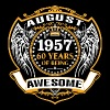 1957 60 Years Of Being Awesome August - Men's Premium T-Shirt