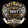 1957 60 Years Of Being Awesome October - Men's Premium T-Shirt