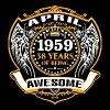 1959 58 Years Of Being Awesome April - Men's Premium T-Shirt