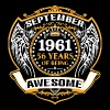 1961 56 Years Of Being Awesome September - Men's Premium T-Shirt
