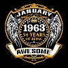 1963 54 Years Of Being Awesome January - Men's Premium T-Shirt