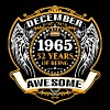 1965 52 Years Of Being Awesome December - Men's Premium T-Shirt