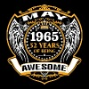 1965 52 Years Of Being Awesome May - Men's Premium T-Shirt