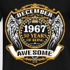 1967 50 Years Of Being Awesome December - Men's Premium T-Shirt