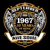 1967 50 Years Of Being Awesome September - Men's Premium T-Shirt