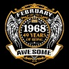 1968 49 Years Of Being Awesome February - Men's Premium T-Shirt