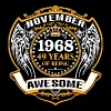 1968 49 Years Of Being Awesome November - Men's Premium T-Shirt