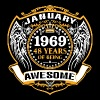 1969 48 Years Of Being Awesome January - Men's Premium T-Shirt