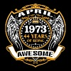 1973 44 Years Of Being Awesome April - Men's Premium T-Shirt