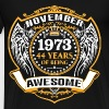1973 44 Years Of Being Awesome November - Men's Premium T-Shirt