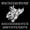 Viking Wear Your Scars With Pride A Scar-Less Man  - Men's Premium T-Shirt