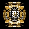 August 1973 44 Years Of Being Awesome - Men's Premium T-Shirt