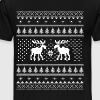 Moose Pattern Christmas Sweater - Men's Premium T-Shirt