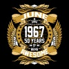 June 1967 50 Years Of Being Awesome - Men's Premium T-Shirt