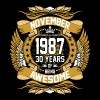 November 1987 30 Years Of Being Awesome - Men's Premium T-Shirt