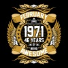 February 1971 46 Years Of Being Awesome - Men's Premium T-Shirt
