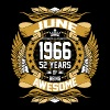 Jun 1966 52 Years Awesome - Men's Premium T-Shirt