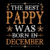 The Best Pappy Was Born In December - Men's Premium T-Shirt