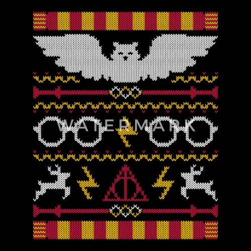 harry potter ugly christmas sweater for fans by spreadshirt