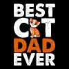 Best Cat Dad Ever - Men's Premium T-Shirt
