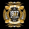 July 1977 40 Years Of Being Awesome - Men's Premium T-Shirt