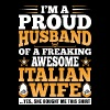Im A Proud Husband Of Awesome Italian Wife - Men's Premium T-Shirt