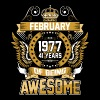 February 1977 41 Years Of Being Awesome - Men's Premium T-Shirt