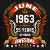 June 1963 55 Years Of Being Awesome - Men's Premium T-Shirt