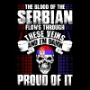 The Blood Of The Serbian Proud Of It - Men's Premium T-Shirt