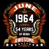 June 1964 54 Years Of Being Awesome - Men's Premium T-Shirt