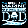 Being Marine Is Honor Being Dad Priceless - Men's Premium T-Shirt