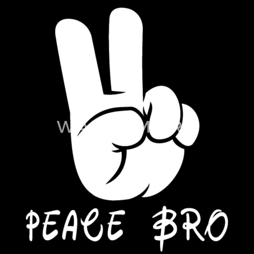 peace sign hand gesture peace brother bro by grandpa spreadshirt