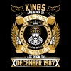 The Real Kings Are Born On December 1987 - Men's Premium T-Shirt
