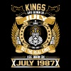 The Real Kings Are Born On July 1987 - Men's Premium T-Shirt