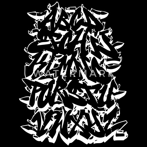 Alphabet Graffiti Men S Premium T Shirt Spreadshirt