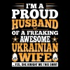 Im A Proud Husband Of Awesome Ukrainian Wife - Men's Premium T-Shirt